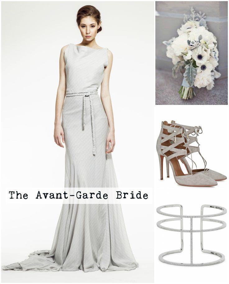 Not into white? No problem. Zuzana Veselá has the perfect dress for a bride who takes a few more risks. #zuzanavesela #wedding #grey #bridetobe #czechfashion #weddingweek @aquazurralovers