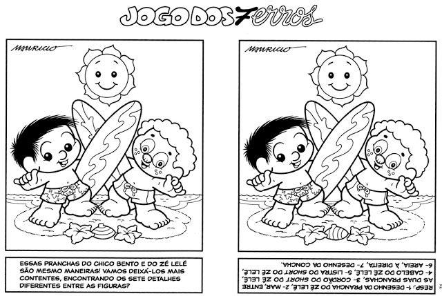 Jogo Dos 7 Erros Para Imprimir Turma Da Monica Como Fazer Monica Para Colorir Diversao Para Criancas Turma Da Monica