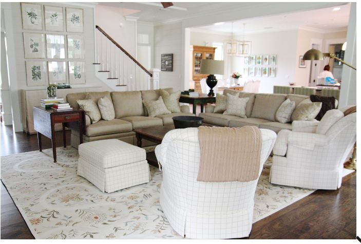 Attractive Living Room Seating Arrangements Photo