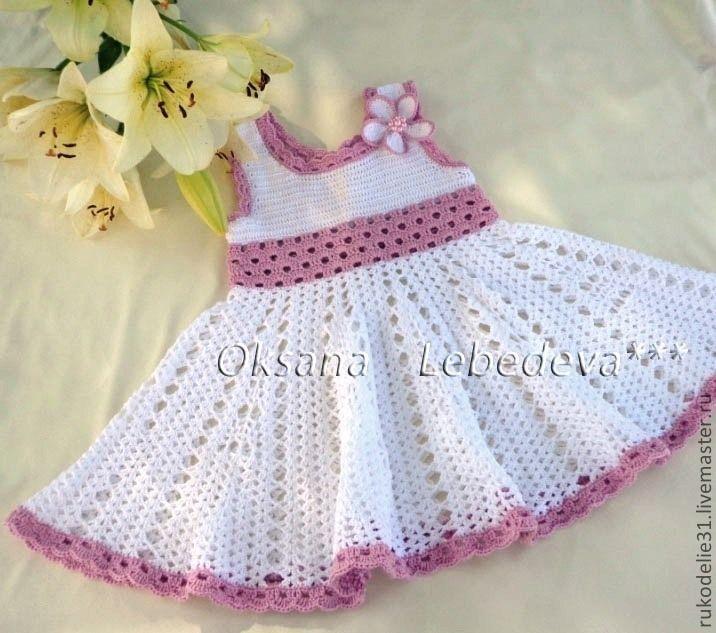 Купить Платье сарафан летний ажурный крючком из хлопка Листья под ногами