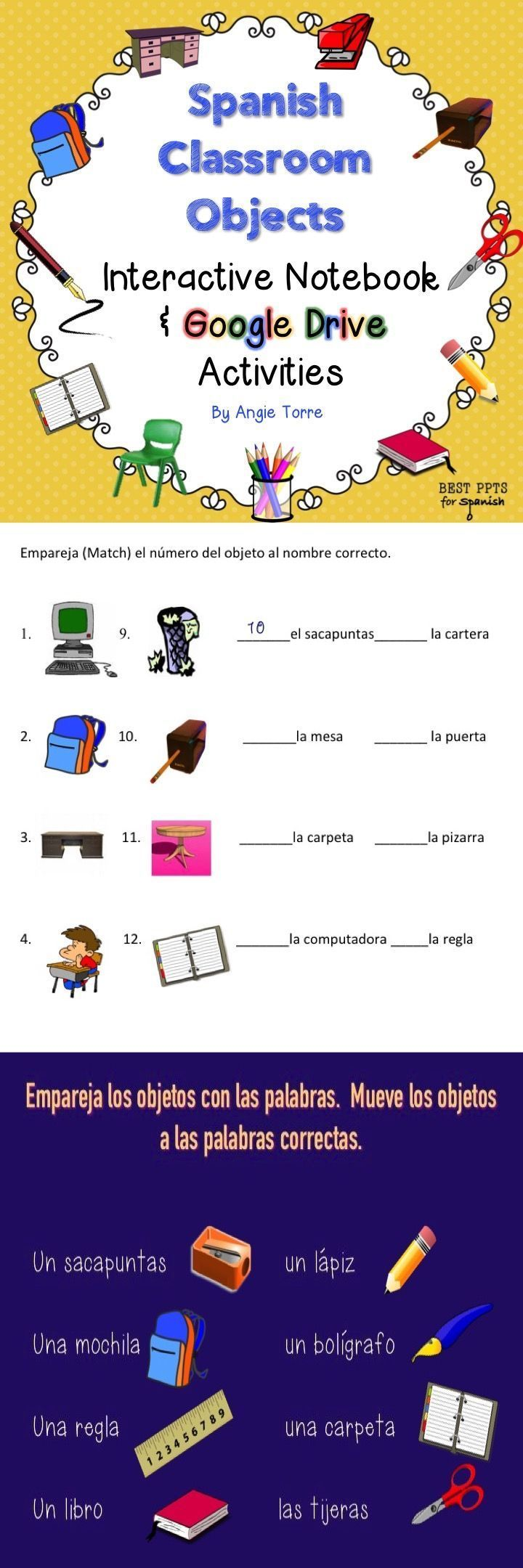 Classroom Interactive Ideas ~ Best images about spanish interactive notebook