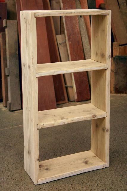 scaffold board shelf unit by woodrecycling, via Flickr