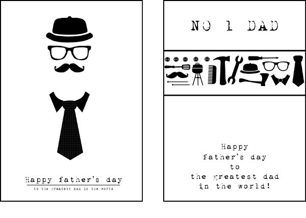 FATHER'S DAY CARDS, DESIGN BY ME