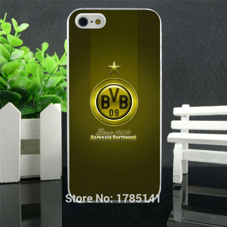 1pcs/lot borussia dortmund logo hard white Skin Case for iphone 5 5s 4 4g 4S 5c Retail