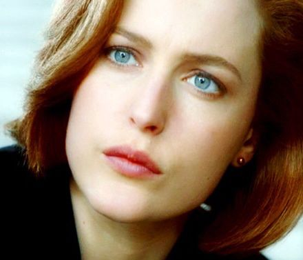 Dana Scully (actress: Gillian Anderson) from The X-Files television series.