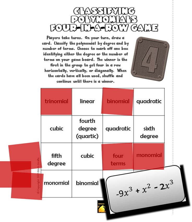 Free fourinarow game classifying polynomials