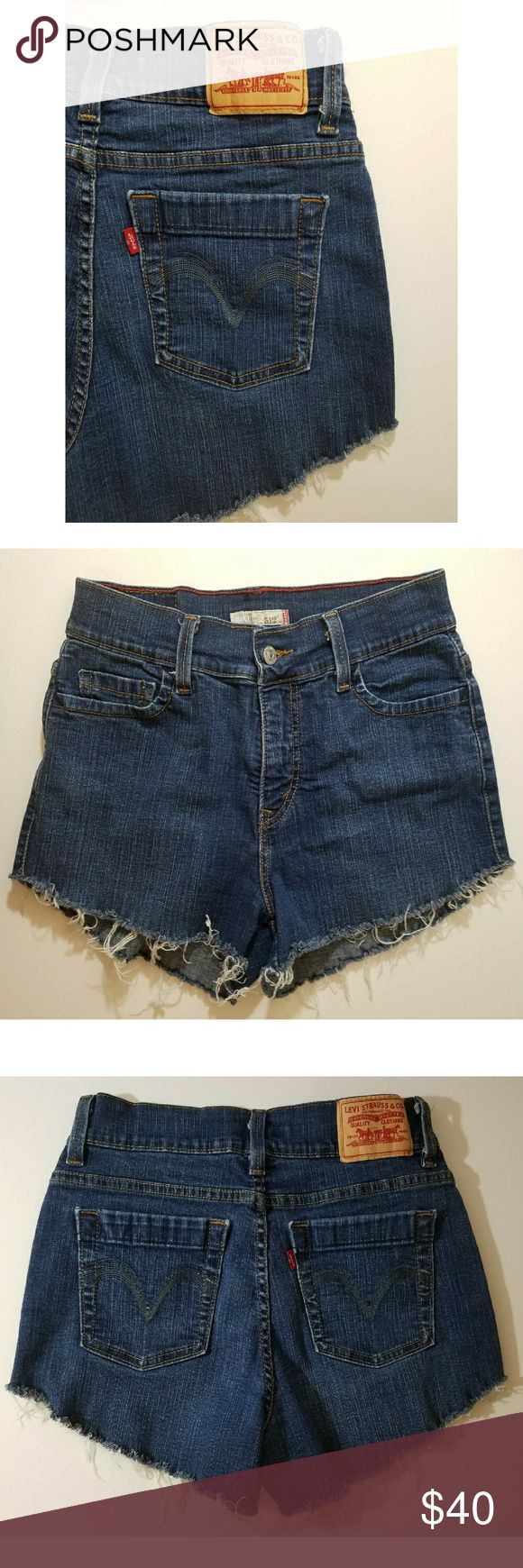 Levi 512 Capri Cut Offs * Levi's 512 cut off shorts, ( used to be perfect slimming capris) * raw stringy hem with front button/zipper closure * worn a handful of times, in great condition Levi's Shorts
