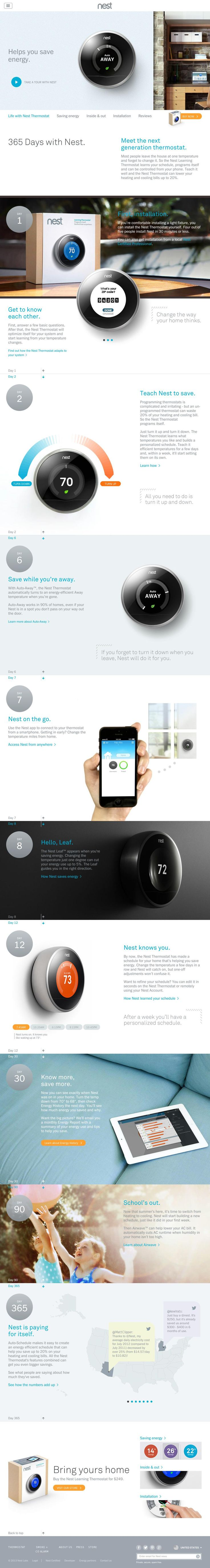 The website 'http://nest.com/thermostat/life-with-nest-thermostat/' courtesy of @Pinstamatic (http://pinstamatic.com)