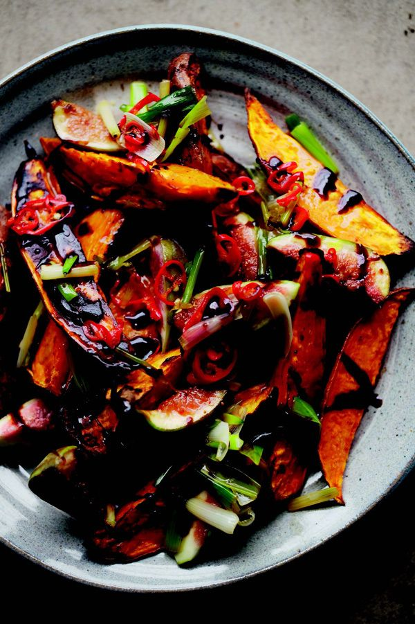 "Roasted sweet potatoes & fresh figs from ""Jerusalem: A Cookbook ..."
