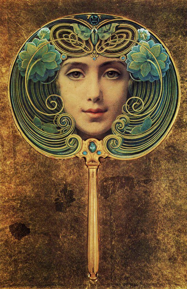 Art Nouveau fan