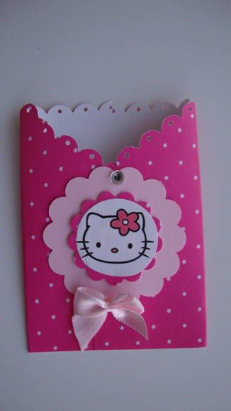 es un porta chupetin pro me gusta de sobre para invitacion Capa de pirulito de scrap - Hello Kitty