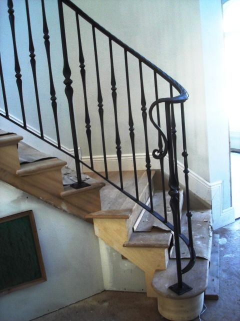 Decorative Interior Wrought Iron Railing