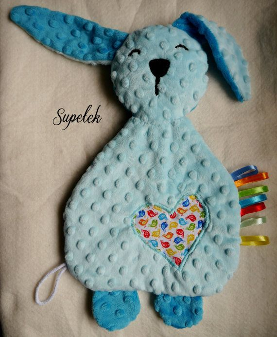 Bunny, comforter, sensory toy, taggy - SALE