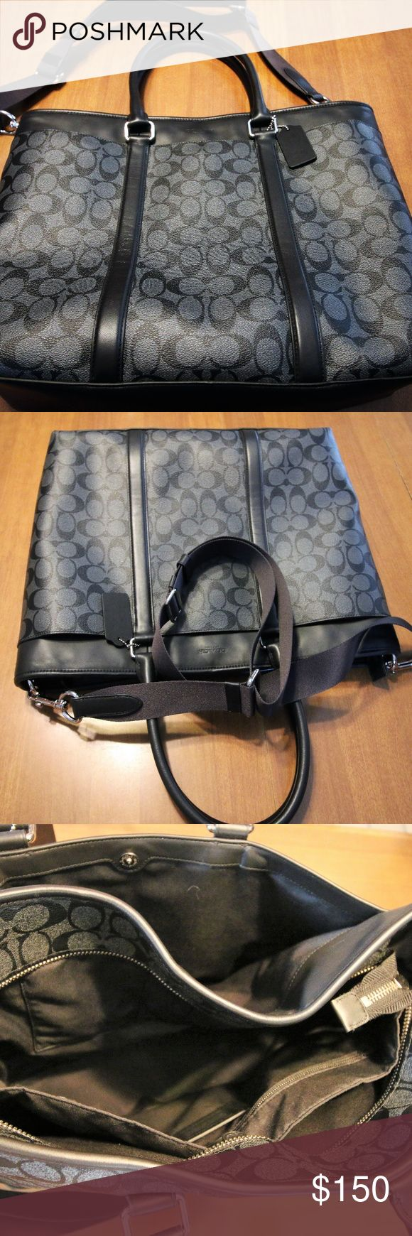 Coach Briefcase Excellent condition Coach briefcase.  Has a padded pocket inside that fits laptop.  Zipped pockets inside and a large outside pocket. Coach Bags