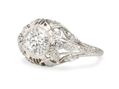 Diamond Desire in a Platinum Ring - The Three Graces