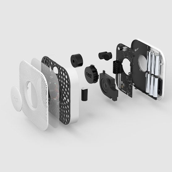 An exploded view of Nest Protect | Smart product and web design by Nest.