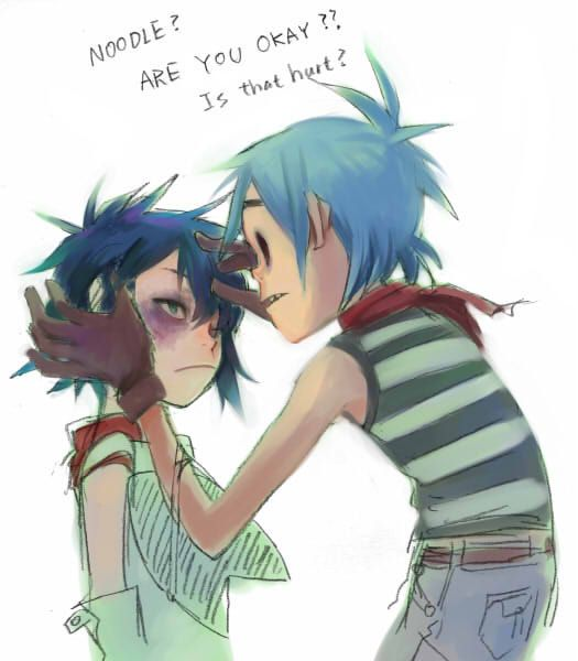 2D and Noodle by A-KAchen.deviantart.com on @DeviantArt