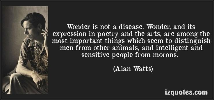 Wonder Is Not A Disease... - Alan Watts