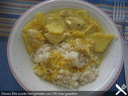 Hähnchen-Ananas-Curry