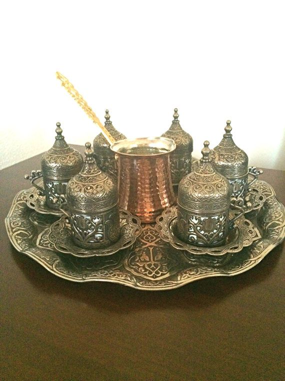 This would make me want to learn to make Turkish Coffee!  Turkish Coffee Set,Handmade Coffee Espresso set,Traditional Ottoman Coffee Set,coffee mug,coffee cup