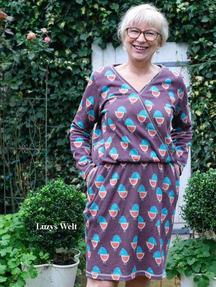 Frau Vilma von fritzi schnttreif, aus Jacquard Jersey. Designbeispiel von Luzys World