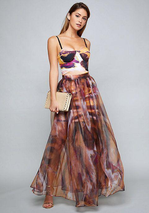 Organza Maxi Skirt Dress Dresses Bebe Bebe Dresses Dress