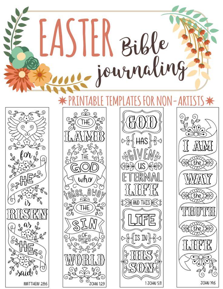 EASTER - 4 Bible journaling printable templates