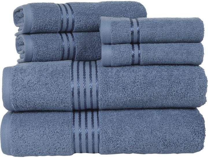 Co The Twillery 6 Piece Egyptian Quality Cotton Towel Set Bath