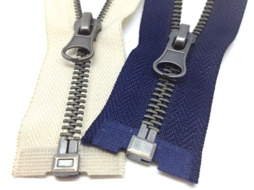 Brass-Metal-Open-End-Zips-No-5-Weight-Zipper-11-Zip-Lengths-Coats-amp-Jackets