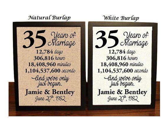 35 Year Wedding Anniversary Gifts: Best 25+ 35th Wedding Anniversary Ideas Only On Pinterest