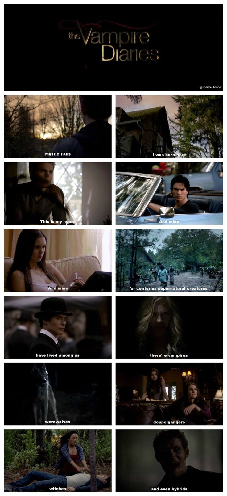 the vampire diaries mistic falls, i was born here this is my home and mine and mine, for centuries supernatural creatures have lived among us there's vampire wear wolf doppelgänger witches and even hybrids❤️