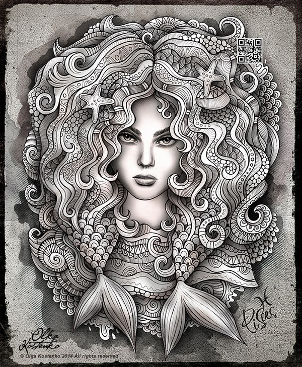 Zodiac illustration quot PISCES quot on