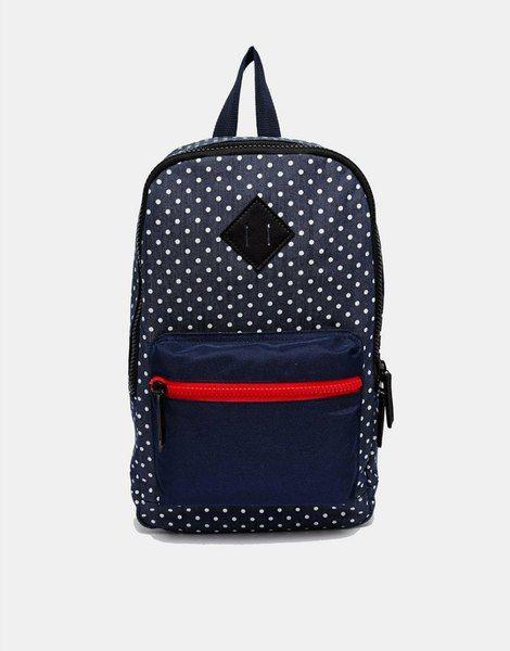 Рюкзак ASOS синий в горошек