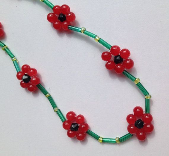 Flower necklace daisy chain festival jewellery by DianaSianCrafts
