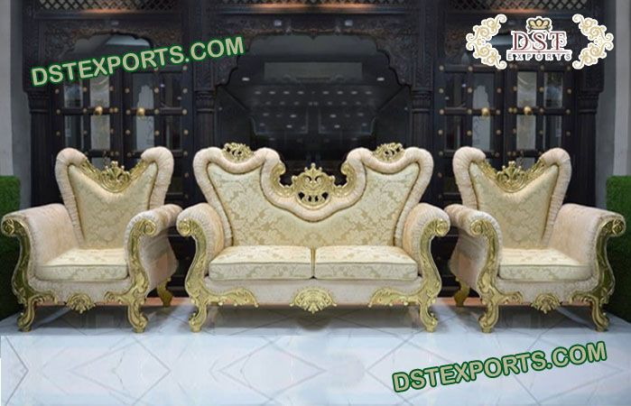 Classy Wedding French Throne Sofa Set Usa Europe Uk England Losangles Colombo Nigeria This Furniture Set Include In 2020 Sofa Set Chair Design Cnc Design