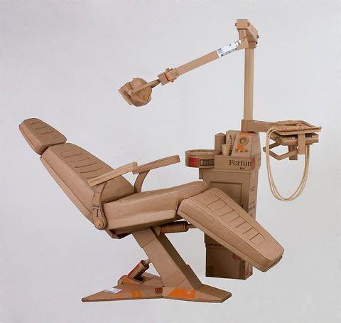 Life- size cardboard sculptures bu Chris Gilmour