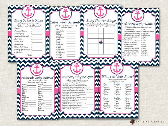 Pink And Navy Nautical Baby Shower Games   Nautical Shower Games, Beach Baby  Shower Games, Baby Shower Games, Pink Nautical Baby Shower, DIY