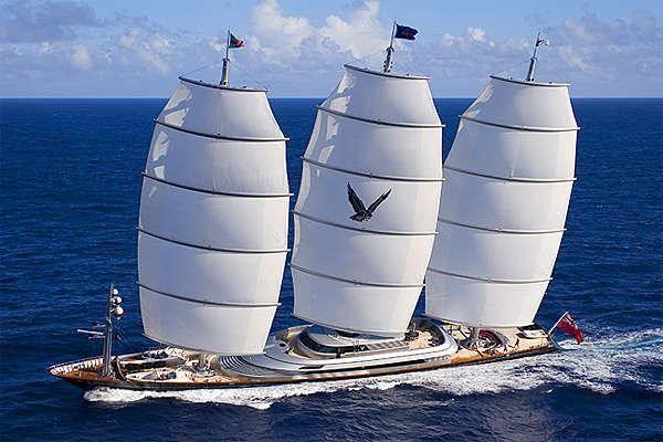 The Perini Maltese Falcon sailing yacht at the Perinini Navi Cup
