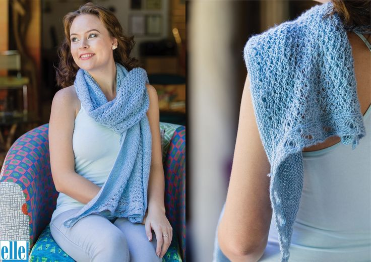 Lace Stole  Brand: Elle Count: 3ply Yarn: Babykins One size only