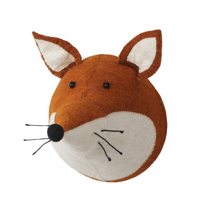 <p>Your little adventurer will love our soft and adorable Singoli Fox Head. Handmade from wool felt, this kids' decoration will add some woodland fun to their room. Made using an appliqué design, with sewn on eyes, moustache and nose as well as a small wall mounting loop behind, your child will enjoy having the cute Singoli taking pride of place in their bedroom or play room.<br /><br />Choose from six different animal heads.</p>