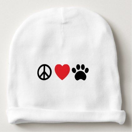 #cute #baby #beanies #babybeanies - #Peace Love Paw Baby Beanie