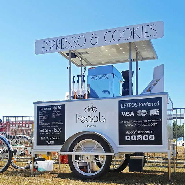 Our Hervey Bay franchisee smashed our sales record at the Fraser coast show! We couldn't be more excited!  #pedalsespresso #bikingbarista #baristalife #bicyclecoffeecart #coffee #coffeelover #espresso #cart #frasercoast #happy #love #smiles #blog #theshow #fun #excited