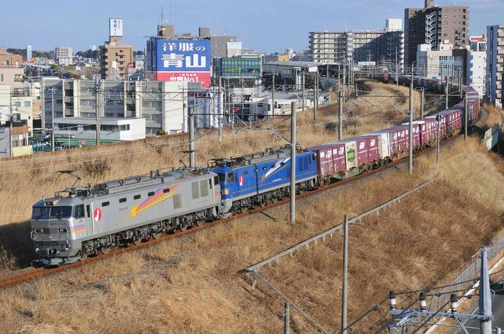 """Oh!カムジャタン★ Let's go! on Twitter: """"2078レ:EF510-510+EF510-501+コキ 2012.2.19 @武蔵野線・三郷~新三郷 https://t.co/LZhyVyGj9U"""""""
