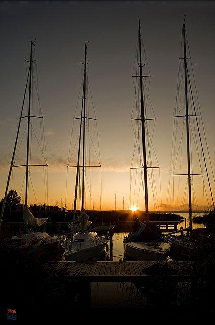 sunset#water#sailboats#Lake Balaton#Hungary
