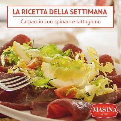Masina dal 1929 | La ricetta della settimana | Carpaccio con spinaci e lattughino #ricette #carne #carpaccio #masina