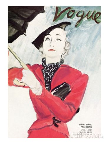 "Vogue Cover - April 1934 Regular Giclee Print par Carl ""Eric"" Erickson sur AllPosters.fr"