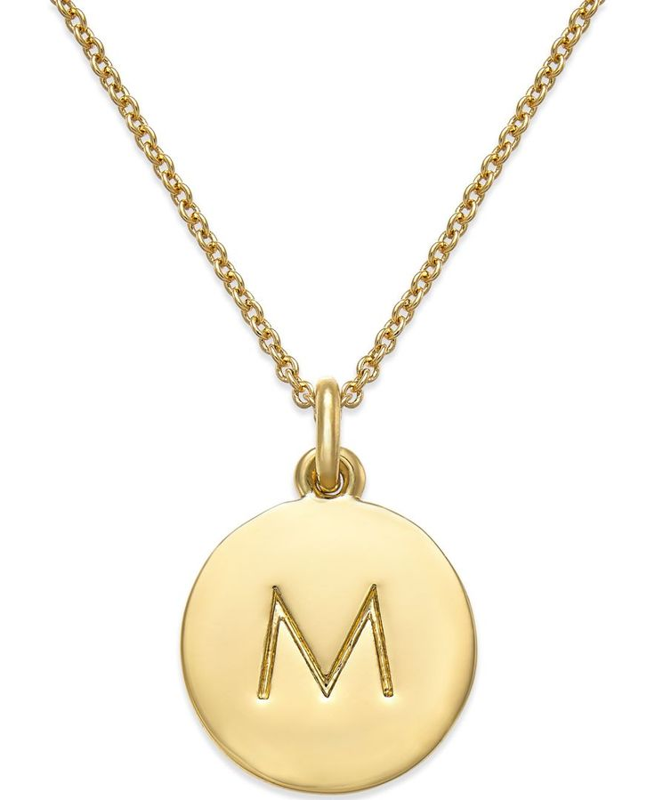 Put a personal spin on bridesmaid gifts with gold-plated initial pendant necklaces from kate spade new york.
