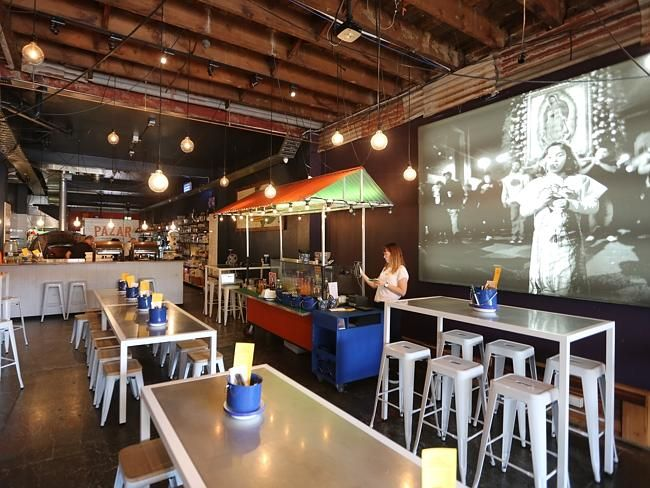 The interior of the restaurant. Picture: Bob Barker.