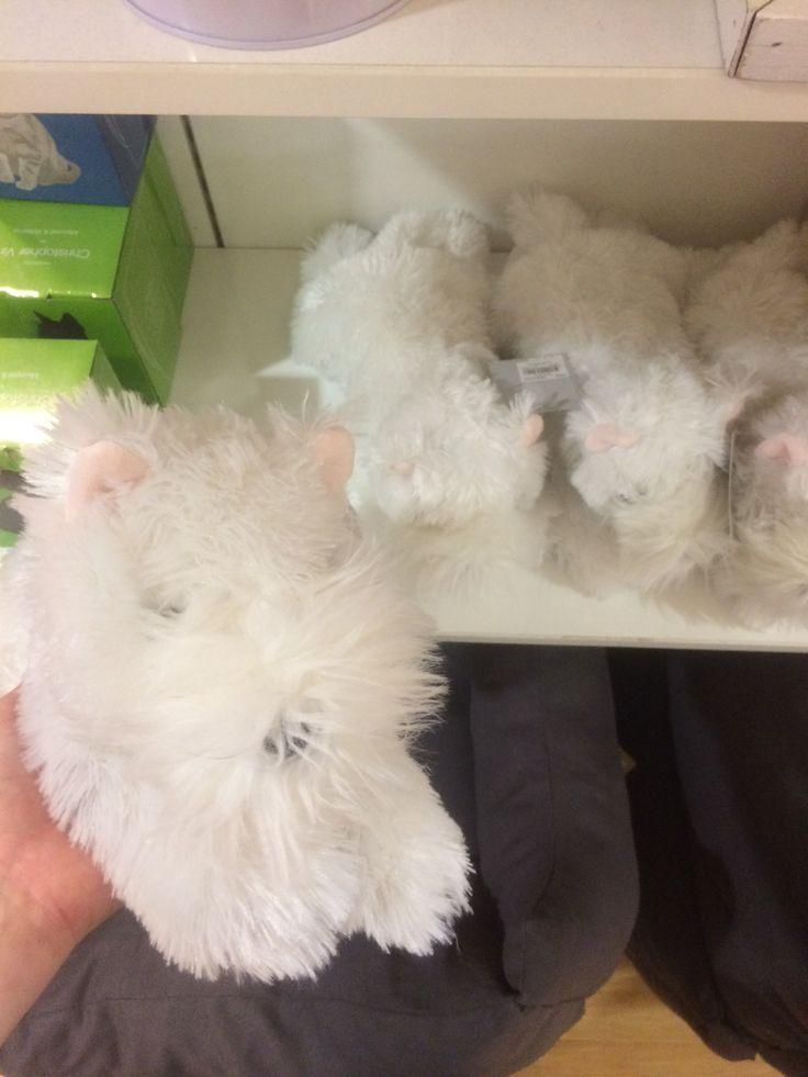 Christmas White Westie Dog @ Myer - $19.99
