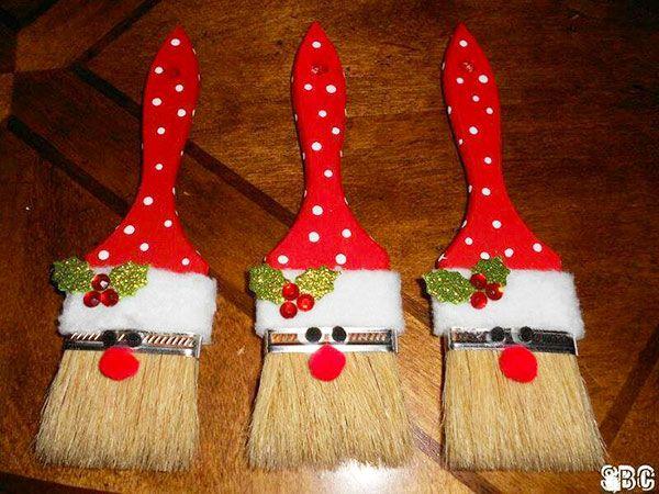 Babbo Natale con pennelli